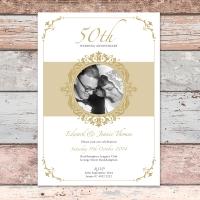 A5 50th Anniversary Invitation