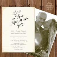 A6 50th Anniversary Invitation
