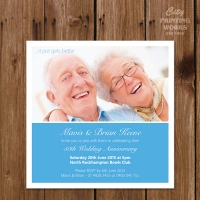 50th Wedding Anniversary Invitation - 130x130mm