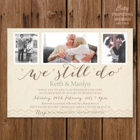 A6  Vow renewal & 40th Anniversary Invitation