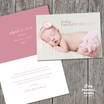 A6 folded - Baby Thank You Card