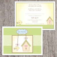 A6 Flat Baby Shower Invitation