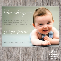 A6 Baby Thank You Card