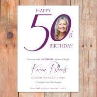 A6 50th Birthday Invitation