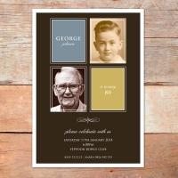 A5 80th Birthday Invitation
