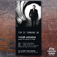 DL - 30th Birthday Invitation