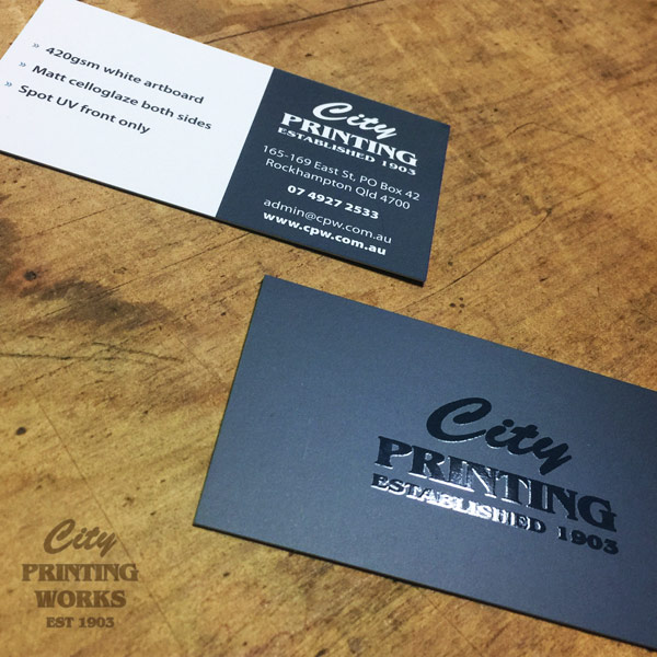 Cards test city printing works spot uv business cards reheart