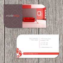 Business Cards 90 x 50mm with diecut corners