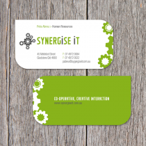 Business Cards 90 x 45mm with diecut corners