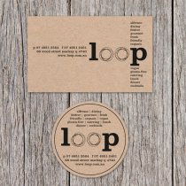 Business Cards 90 x 55mm and Diecut Circle Card 55 x55mm