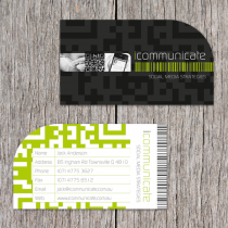 Business Cards 90 x 50mm with diecut corner