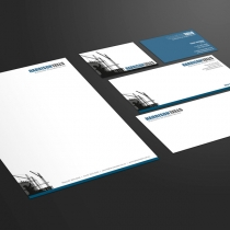 Business Cards, Envelope, With Comps and Letterhead