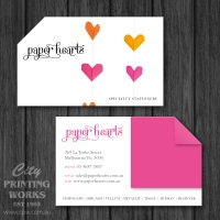 Die Cut Business Card - 1 Angled Corner - Die cut 129
