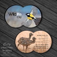 Die Cut Business Card - Double Circle - Die cut 111