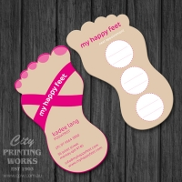 Die Cut Business Card - Feet - Die cut 060