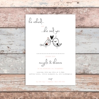 A6 Engagment Invitation