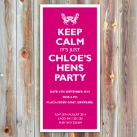 DL Hen\'s Party Invitation