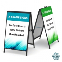 A-Frame Signs - with corflute insert or metal sheet