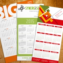 DL & A5 Calendars with magnets
