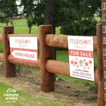 Corflute Signs - landscape or portrait