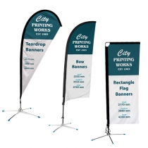 Banners - Teardrop Flag & Rectangle