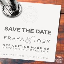 Personalise your wedding stationery with a custom hand embossing machine