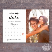 A6 Save the Date - photo and calendar