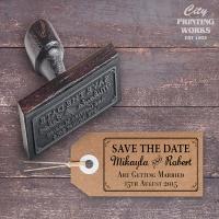 DIY - Kraft board tag and custom stamp