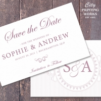 A6 Save the Date - traditional