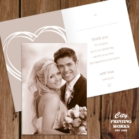 A6 Folded Wedding Thank You Card