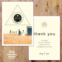 A6 Wedding Thank You Card