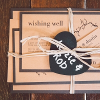 Layered Wedding Stationery - Invitation, Wishing Well, RSVP