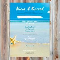 A5 Beach Wedding Invite