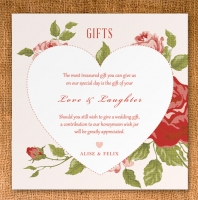 Gift Card 90mm x 90mm - vintage floral