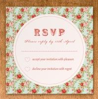 RSVP Card 90mm x 90mm - vintage floral