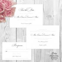 Simple, elegant Wedding Stationery - Save the Date, Wedding Invitation & RSVP