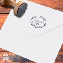 Personalise your wedding stationery with custom rubber stamps