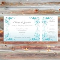DL Wedding Invitation with RSVP